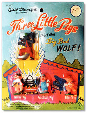 Three Little Pigs Blister Card